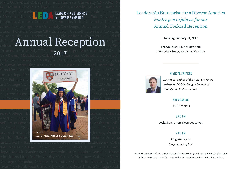 2017 LEDA Reception