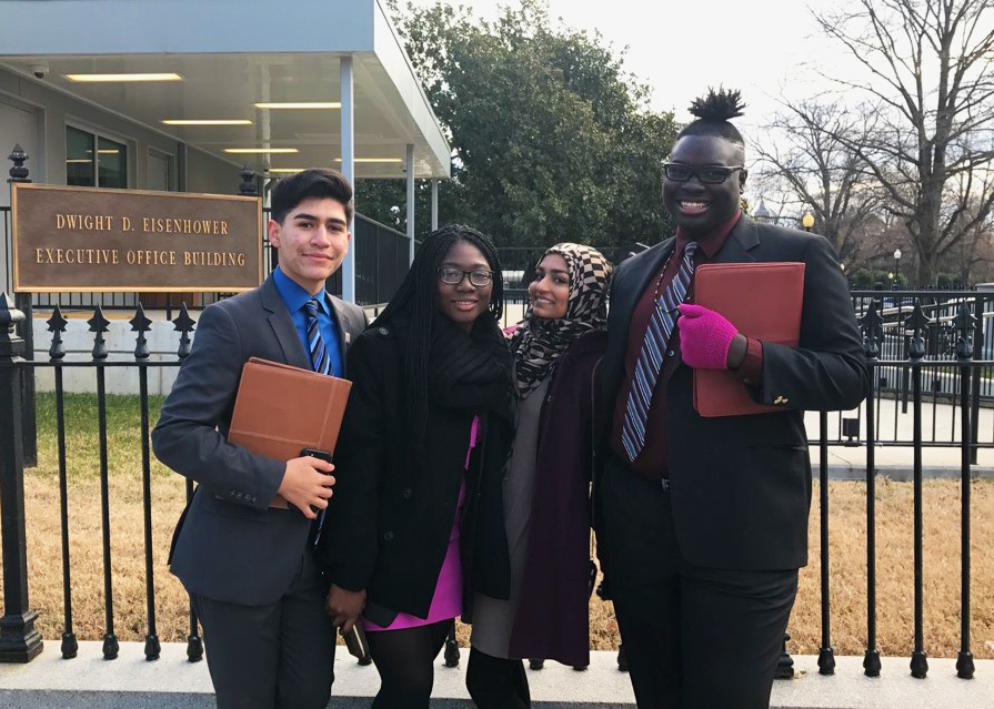 LEDA Scholars on the Better Make Room Student Advisory Board at the White House