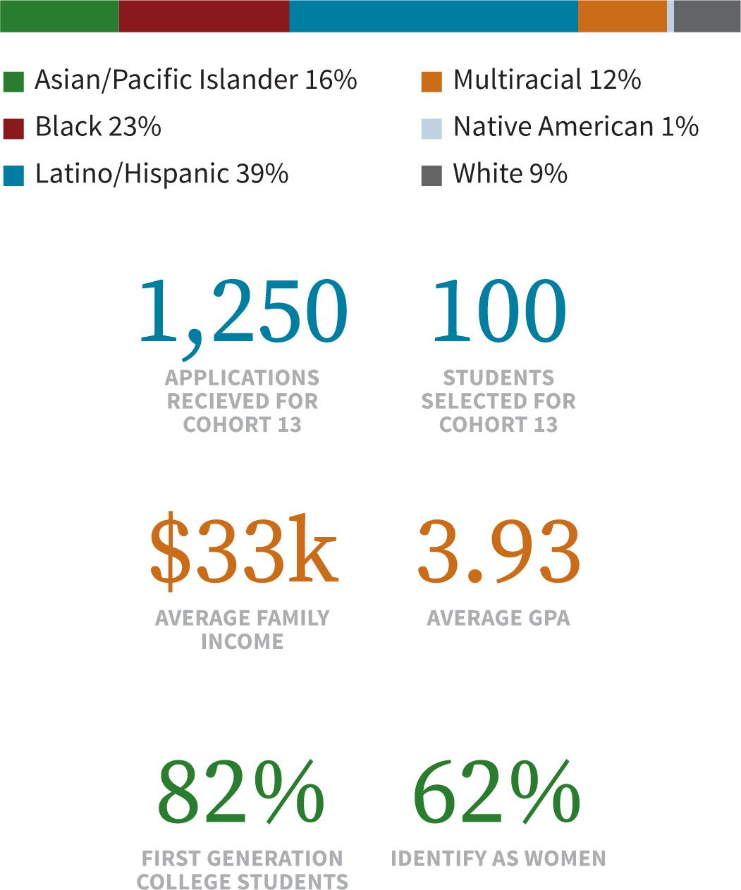 LEDA Cohort 13 Statistics
