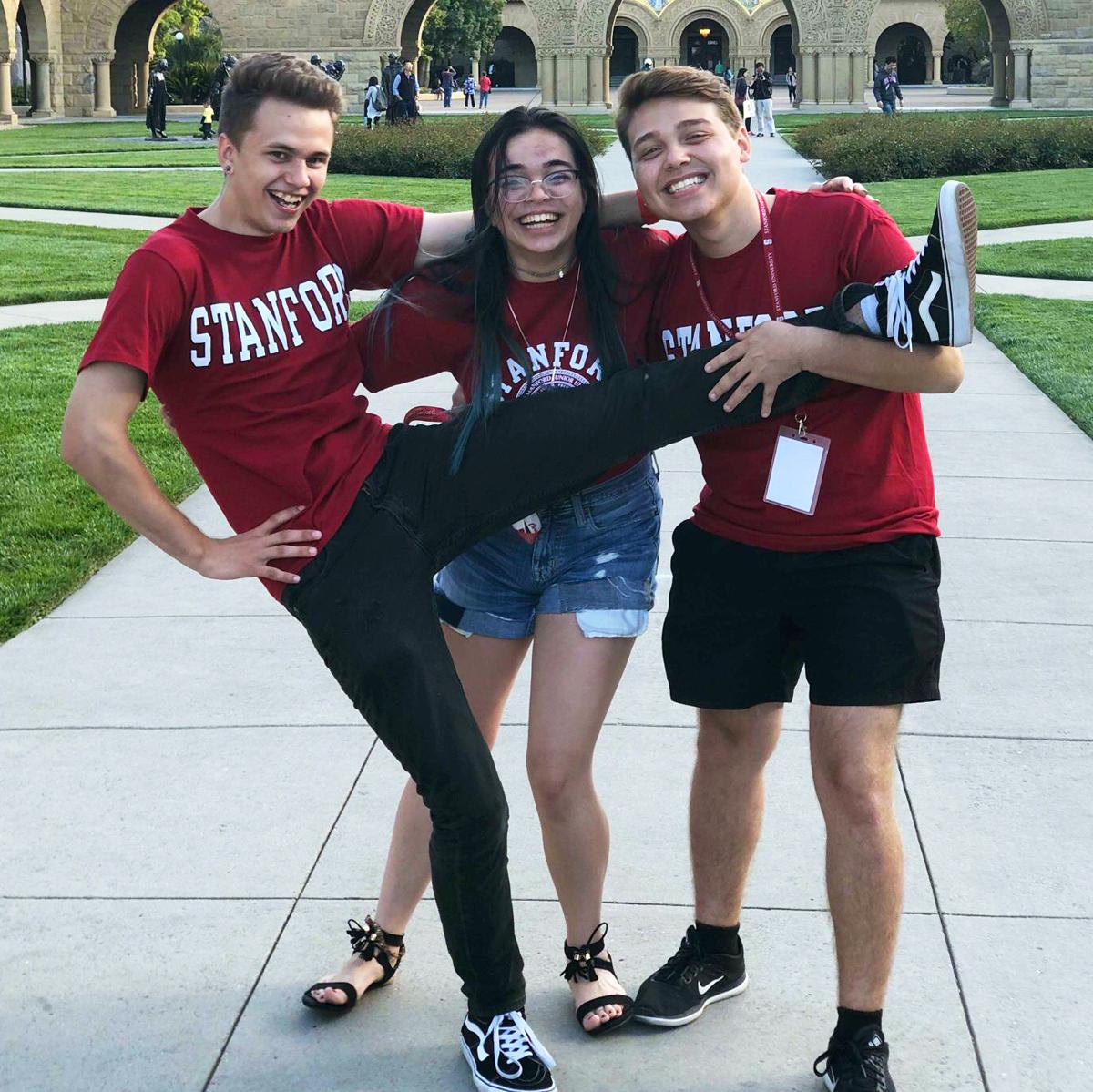 Jade Tristen and Antonio R at Stanford