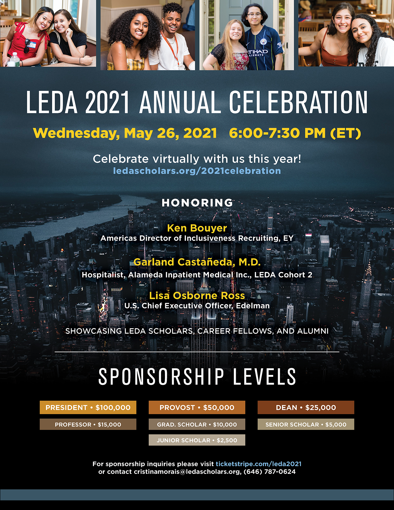 2021 LEDA Annual Celebration Invitation